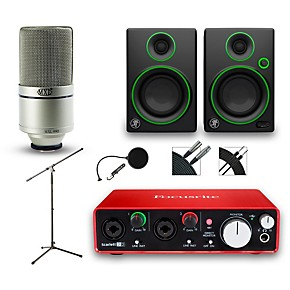 focusrite 2i2 recording bundle with mxl 990 and mackie cr3 monitors musician 39 s friend. Black Bedroom Furniture Sets. Home Design Ideas