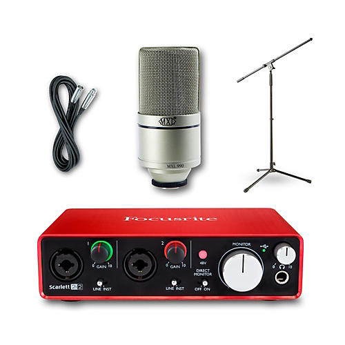 Focusrite 2i2 Recording Bundle with MXL 990 Mic