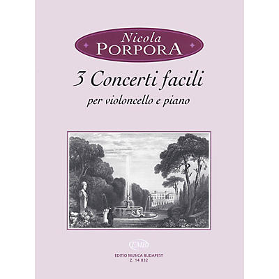 Editio Musica Budapest 3 Concerti Facili (Cello and Piano) EMB Series Softcover