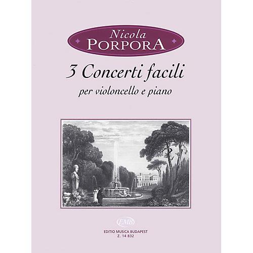 Editio Musica Budapest 3 Concerti Facili (Cello and Piano) EMB Series Softcover