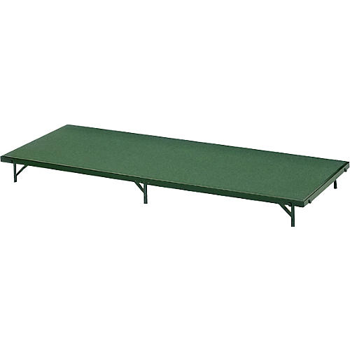 Midwest Folding Products 3' Deep X 6' Wide Single Height Portable Stage & Seated Riser 24 Inches High Pewter Gray Carpet