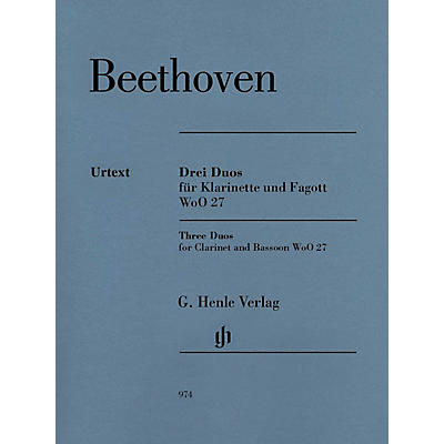 G. Henle Verlag 3 Duos for Clarinet and Bassoon WoO 27 by Ludwig van Beethoven Edited by Egon Voss