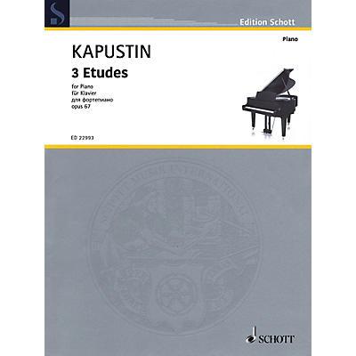 Schott 3 Etudes Op. 67 Piano Solo by Kapustin