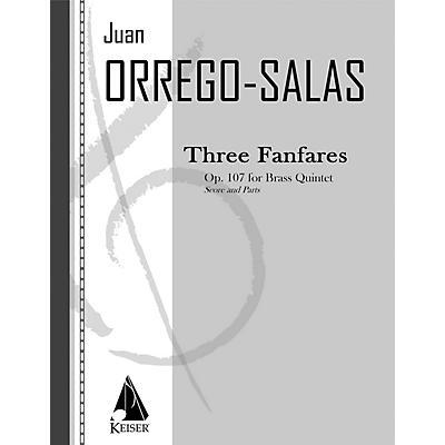 Lauren Keiser Music Publishing 3 Fanfares, Op. 107 (Tres Fanfarrias) LKM Music Series by Juan Orrego-Salas