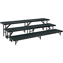 "National Public Seating 3 Level Straight Standing Choral Riser (18""x96"" Platform)"