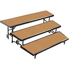National Public Seating 3 Level Tapered Standing Choral Riser