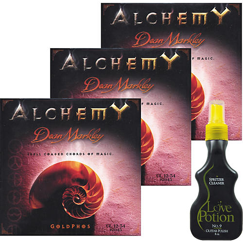 Dean Markley 3 Pack 2045 Acoustic Alchemy Strings with Free Love Potion No. 9