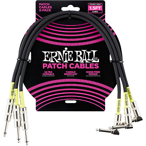Ernie Ball 3-Pack Patch Cable