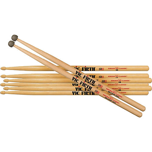 Vic Firth 3 Pair 5B with FREE 5BCO