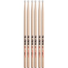3-Pair American Classic Hickory Drumsticks Nylon Rock