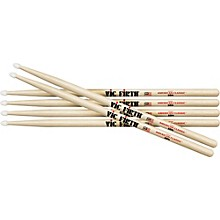 3-Pair American Classic Hickory Drumsticks Wood 2B