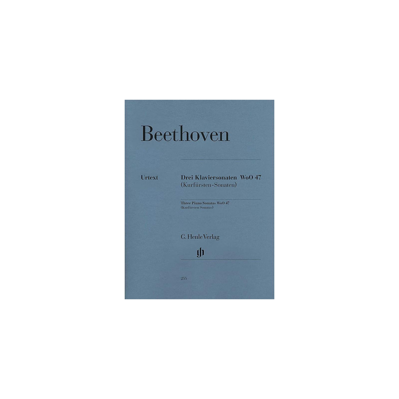 G. Henle Verlag 3 Piano Sonatas WoO 47 (Kurfürsten-Sonatas) Henle Music Folios Series Softcover