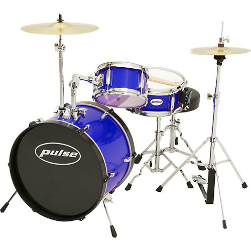 Pulse 3-Piece Deluxe Junior Drum Set