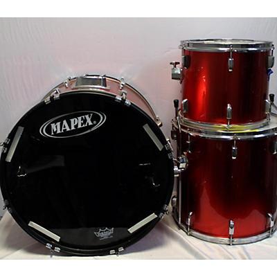GP Percussion 3 Piece Drum Set Drum Kit