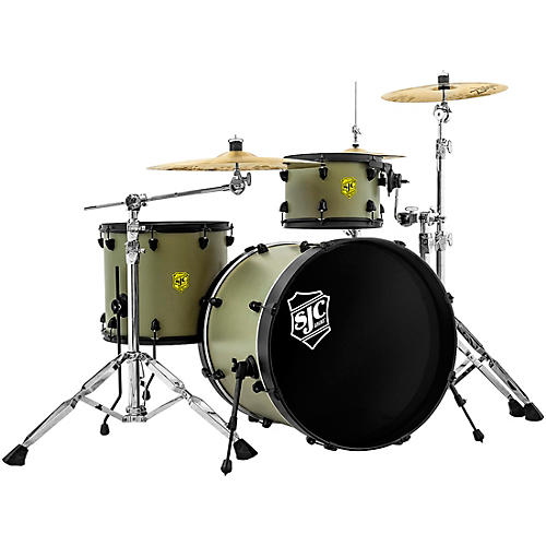SJC Drums 3-Piece Josh Dun Bandito Shell Pack With Black Hardware Trench Olive
