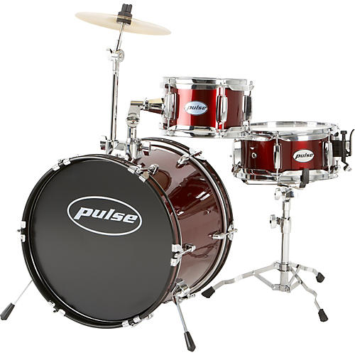 pulse 3 piece kid junior drum set musician 39 s friend. Black Bedroom Furniture Sets. Home Design Ideas