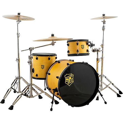 SJC Drums 3-Piece Pathfinder Shell Pack Cyber Yellow Satin