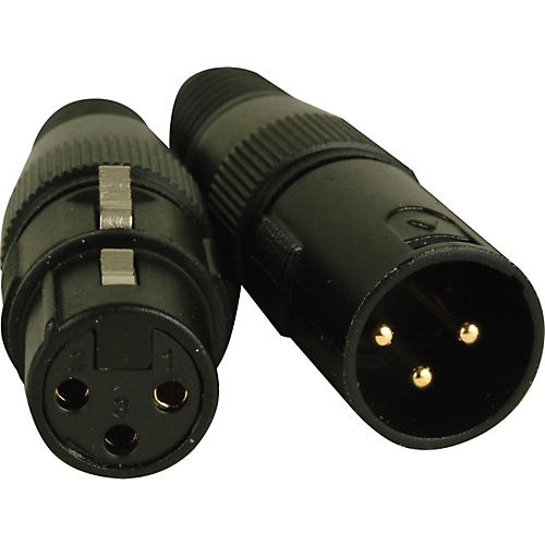 American DJ 3-Pin Male - Female XLR Connectors