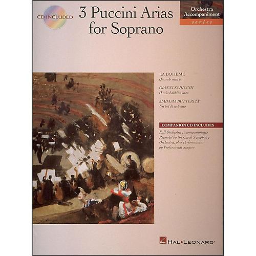 Hal Leonard 3 Puccini Arias for Soprano Book/CD Pkg
