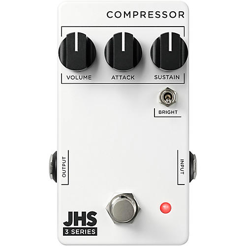 JHS Pedals 3 Series Compressor Effects Pedal White