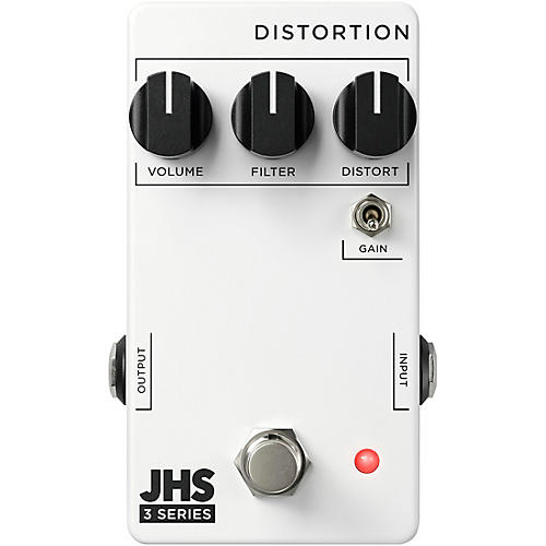 JHS Pedals 3 Series Distortion Effects Pedal White