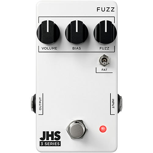 JHS Pedals 3 Series Fuzz Effects Pedal White