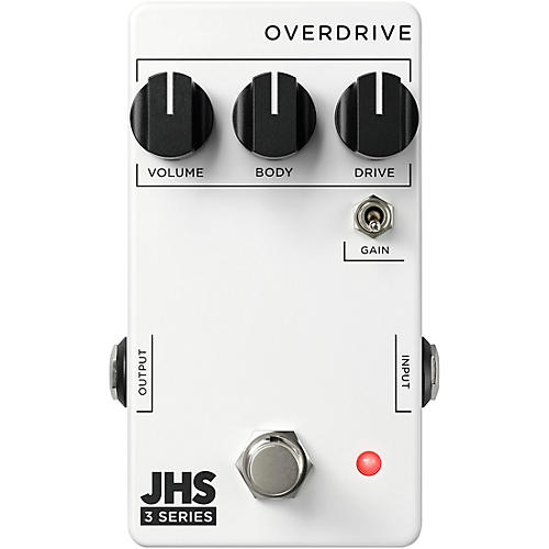 JHS Pedals 3 Series Overdrive Effects Pedal White