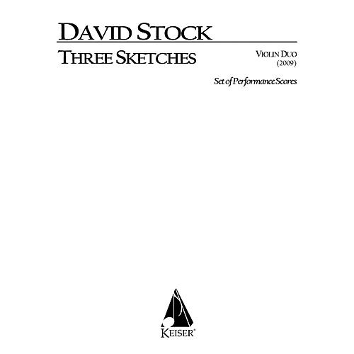 Lauren Keiser Music Publishing 3 Sketches for Vioin Duo (Performance Scores) LKM Music Series Composed by David Stock