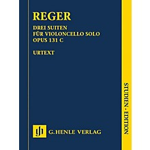 G. Henle Verlag 3 Suites for Violoncello Solo Op. 131c Henle Study Scores by Max Reger Edited by Wolf-Dieter Seiffert