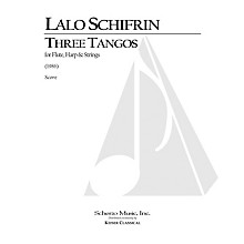 Lauren Keiser Music Publishing 3 Tangos for Flute, Harp and Strings LKM Music Series Composed by Lalo Schifrin