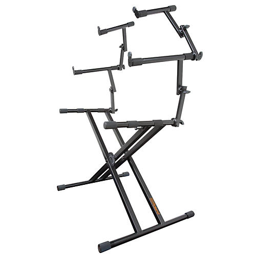 roland 3 tier double x braced keyboard stand musician 39 s friend. Black Bedroom Furniture Sets. Home Design Ideas