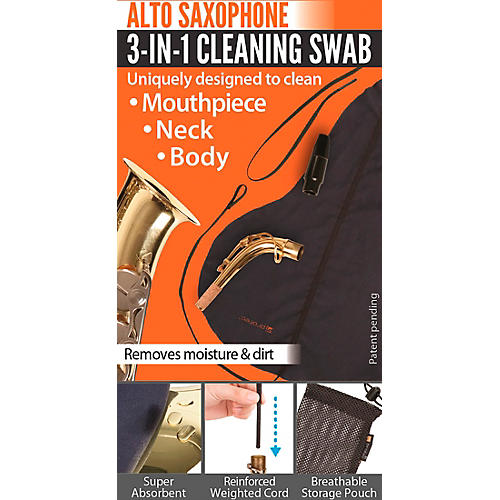 Protec 3-in-1 Alto Saxophone Swab (Body, Neck, and Mouthpiece)