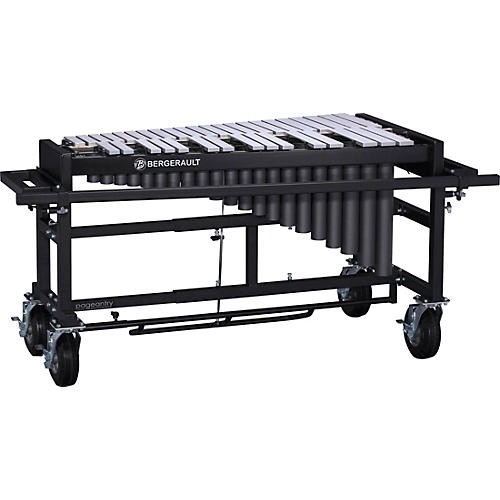 Bergerault 3.0 Octave Performance Series Vibraphone Silver Finish Aluminum Bars Field Frame without Motor