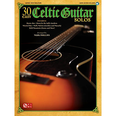 Cherry Lane 30 Easy Celtic Guitar Solos Easy Guitar Series Softcover with CD
