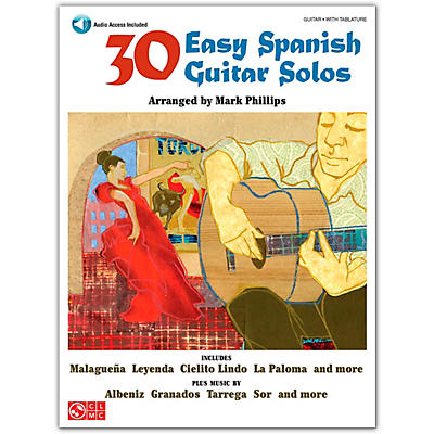 Cherry Lane 30 Easy Spanish Guitar Solos Book/Online Audio