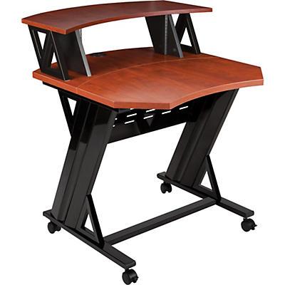 """Studio Trends 30"""" Studio Desk With 4 RU Rack - Cherry"""
