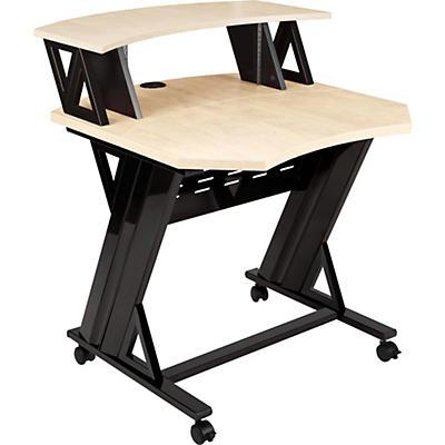 """Studio Trends 30"""" Studio Desk With 4 RU Rack - Maple"""