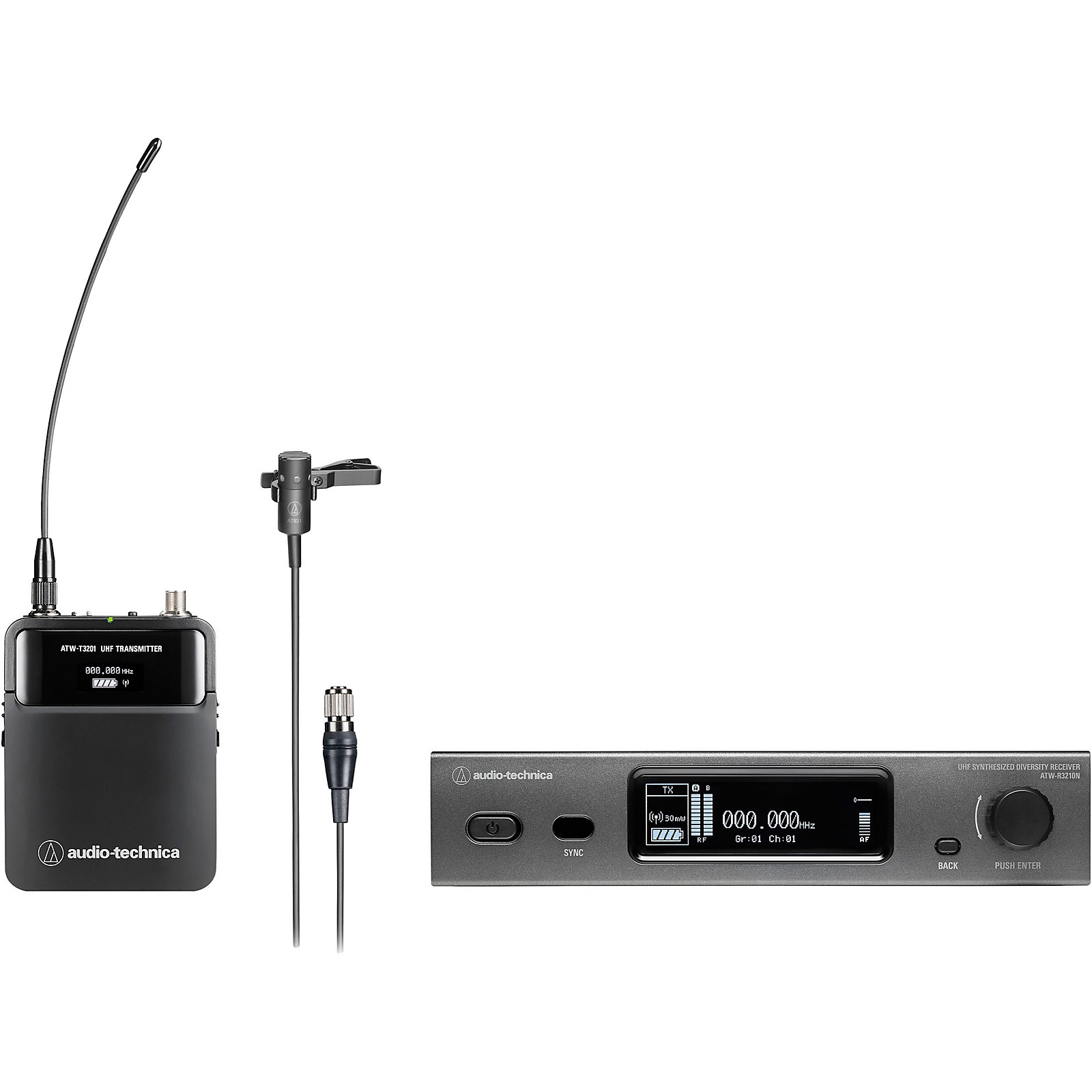 Audio-Technica 3000 Series  (4th Gen)  Network Enabled UHF Wireless with AT831cH Cardioid Condenser Lavalier Microphone