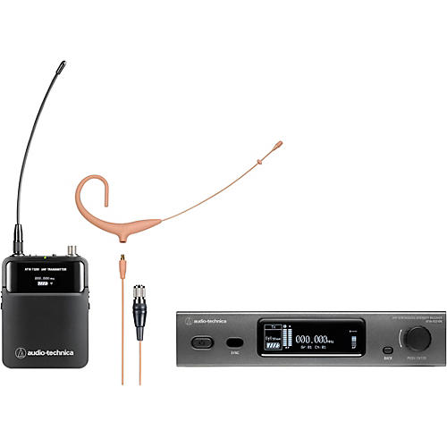 Audio-Technica 3000 Series (4th Gen) Network Enabled UHF Wireless with BP892xcH-TH MicroSet Omnidirectional Condenser Headworn Microphone Band DE2