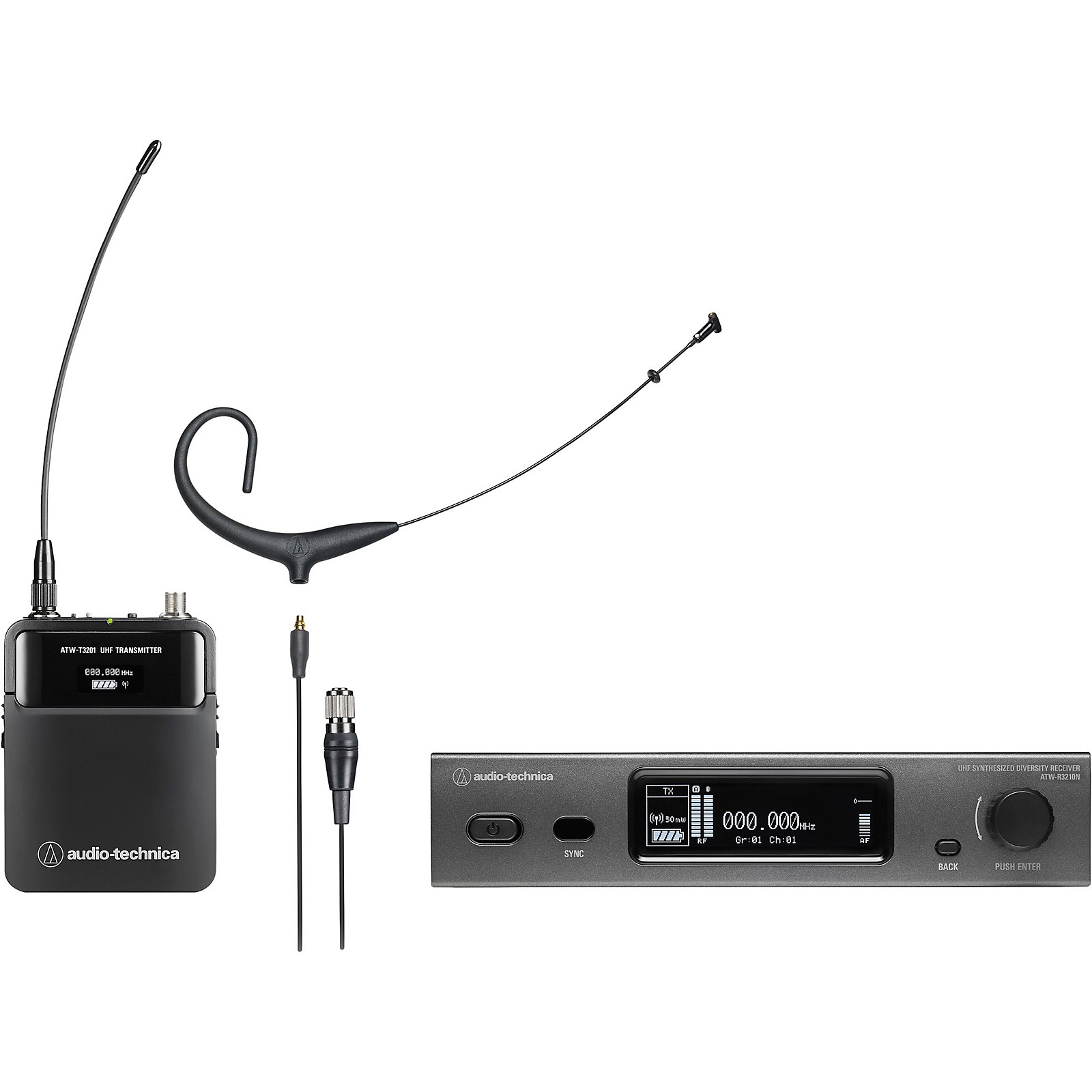 Audio-Technica 3000 Series (4th Gen) Network Enabled UHF Wireless with BP894xcH MicroSet Cardioid Condenser Headworn Microphone