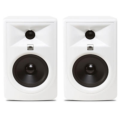 "JBL 305P MKII Super White 5"" Powered Studio Monitor Pair"
