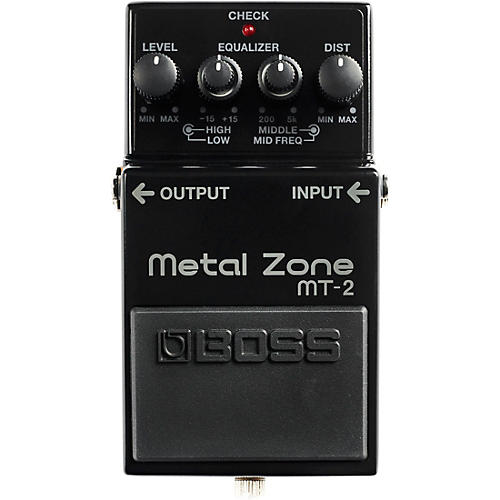 BOSS 30th Anniversary MT-2-3A Metal Zone Effects Pedal Black