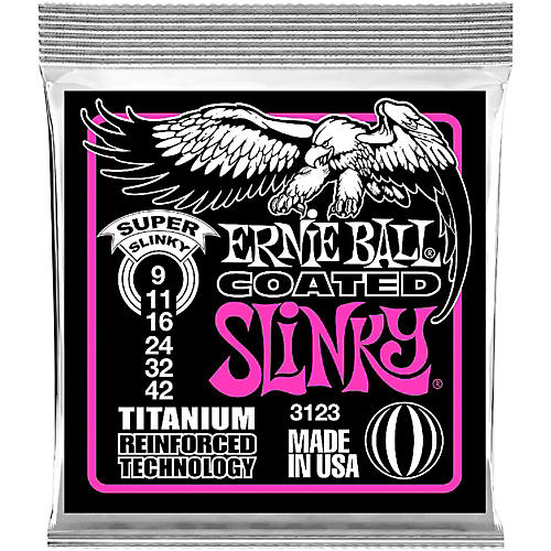ernie ball 3123 coated super slinky electric guitar strings musician 39 s friend. Black Bedroom Furniture Sets. Home Design Ideas