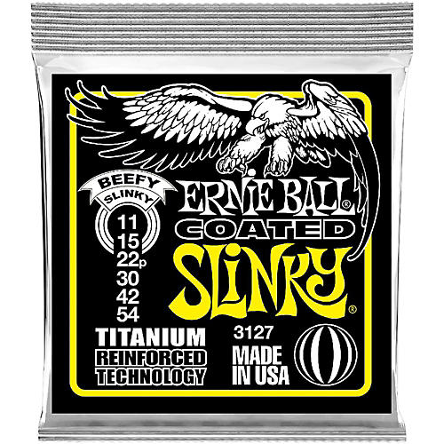 Ernie Ball 3127 Coated Electric Beefy Slinky Guitar Strings