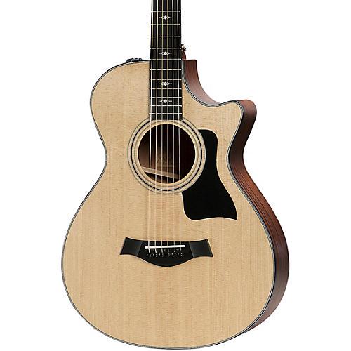 taylor 312ce 12 fret v class grand concert acoustic electric guitar natural musician 39 s friend. Black Bedroom Furniture Sets. Home Design Ideas