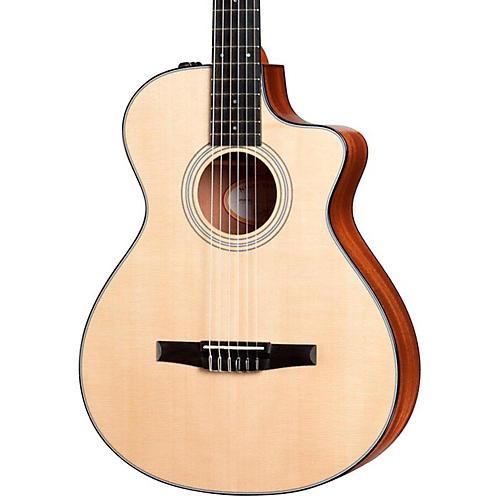 taylor 312ce n sapele spruce nylon string grand concert acoustic electric guitar musician 39 s friend. Black Bedroom Furniture Sets. Home Design Ideas