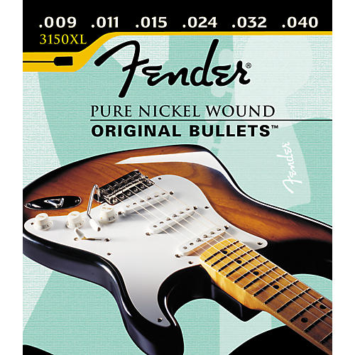 Fender 3150XL Pure Nickel Wound Original Bullets Extra Light Electric Guitar Strings