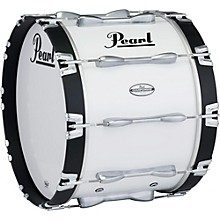 32 x 14 in. Championship Maple Marching Bass Drum Pure White