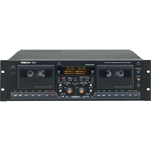 Tascam 322  Advanced Dual Well Cassette Deck