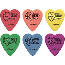 323 Heart Delrex Delrin Picks - One Dozen Green .88 mm